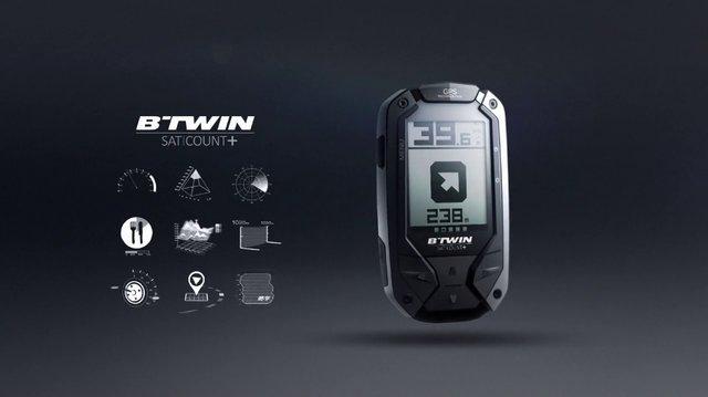 Le GPS BTwin Satcount en mode pause
