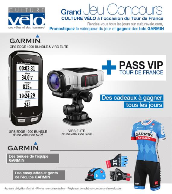 A vos pronostic avec Culture vélo et Garmin – Tour de France 2014