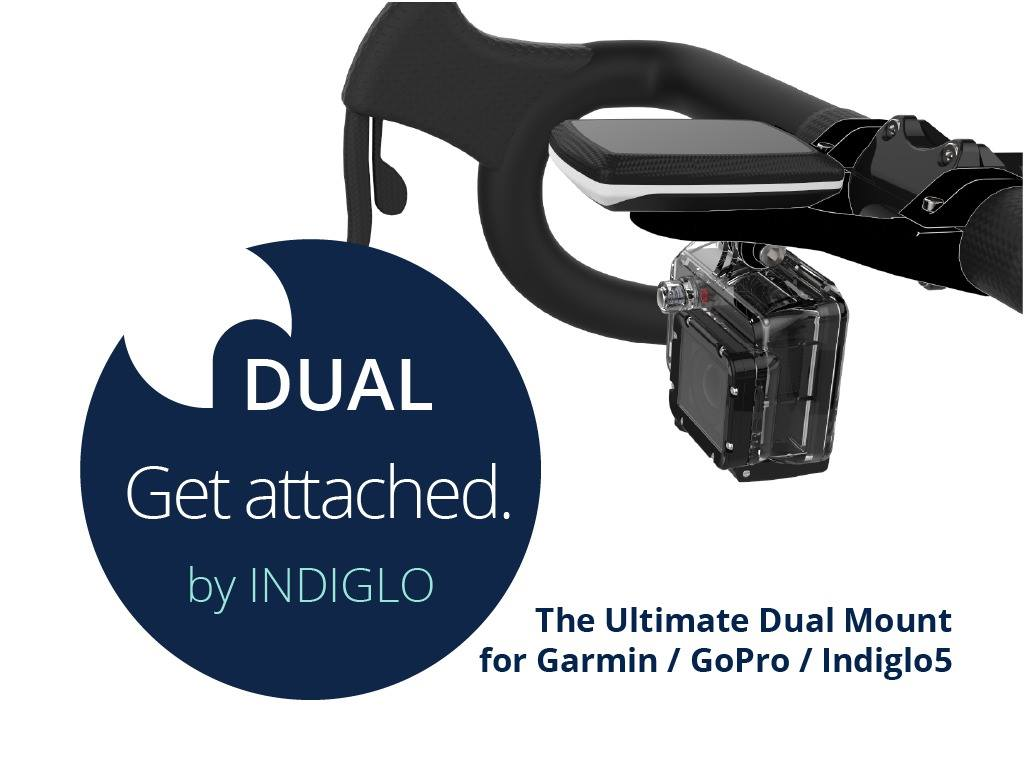« INDIGLO » LE DOUBLE SUPPORT GUIDON POUR GPS ET CAMERA