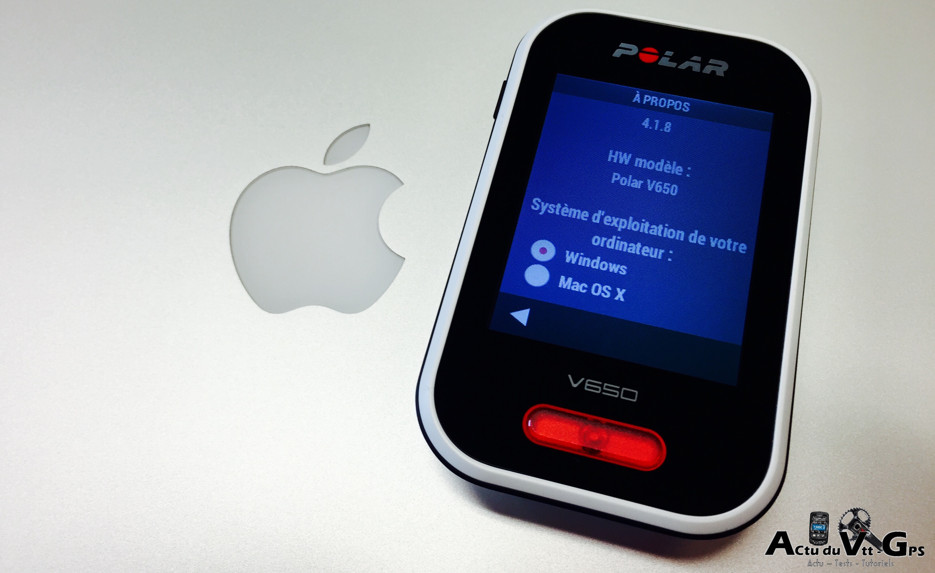 LA COMMUNICATION MAC ET GPS POLAR V650 EST OPERATIONNELLE