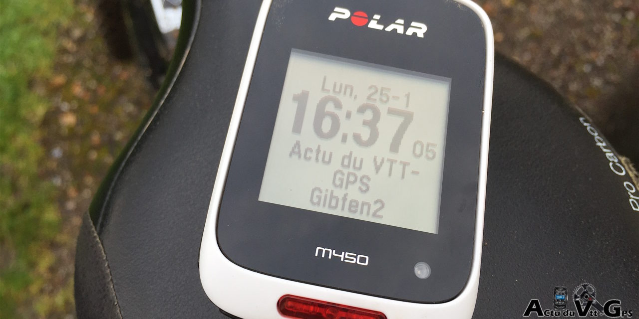 TEST GPS VELO POLAR M450