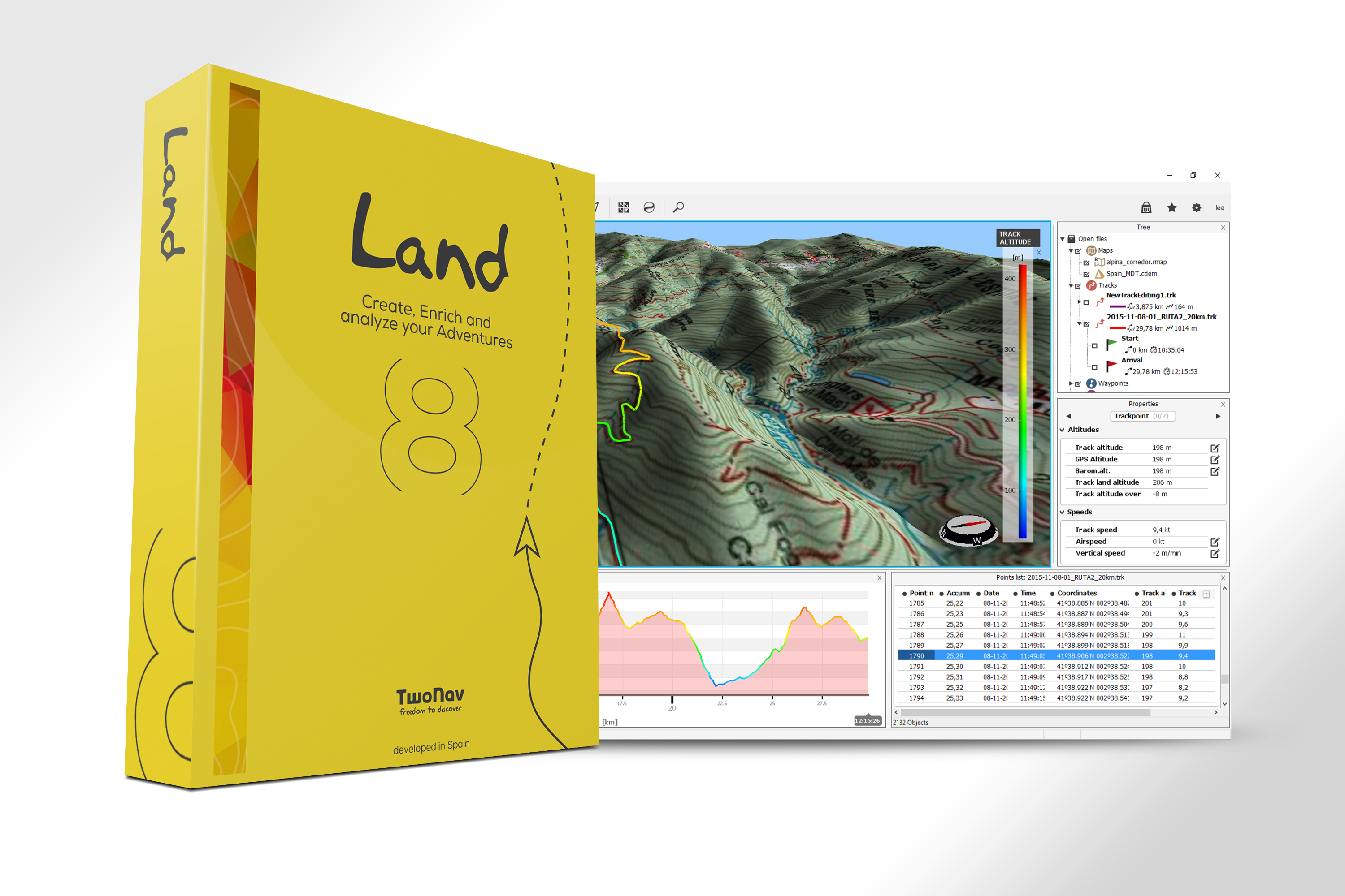 TWONAV LAND – LE LOGICIEL PASSE EN VERSION 8