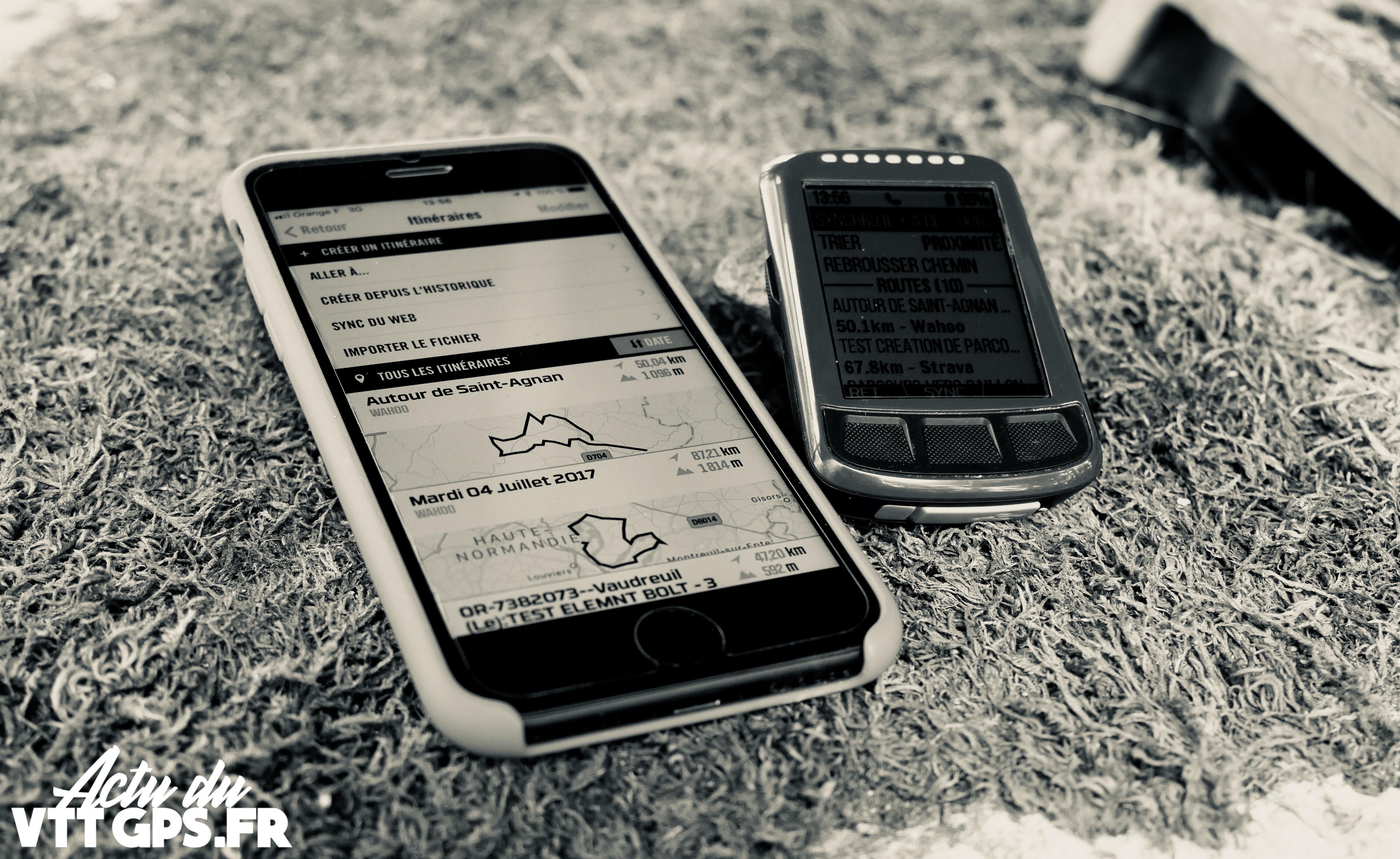 TUTORIEL – ENVOYER UN PARCOURS – GPS WAHOO ELEMNT BOLT
