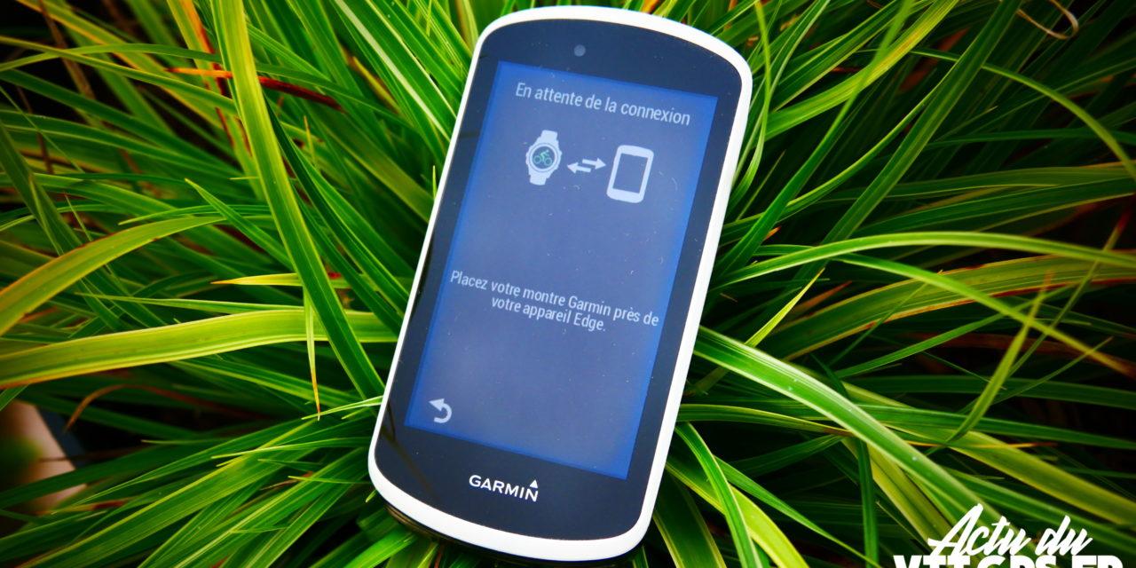 LES GPS GARMIN EDGE 1030 PARTAGE LES DONNEES D'UNE FORERUNNER