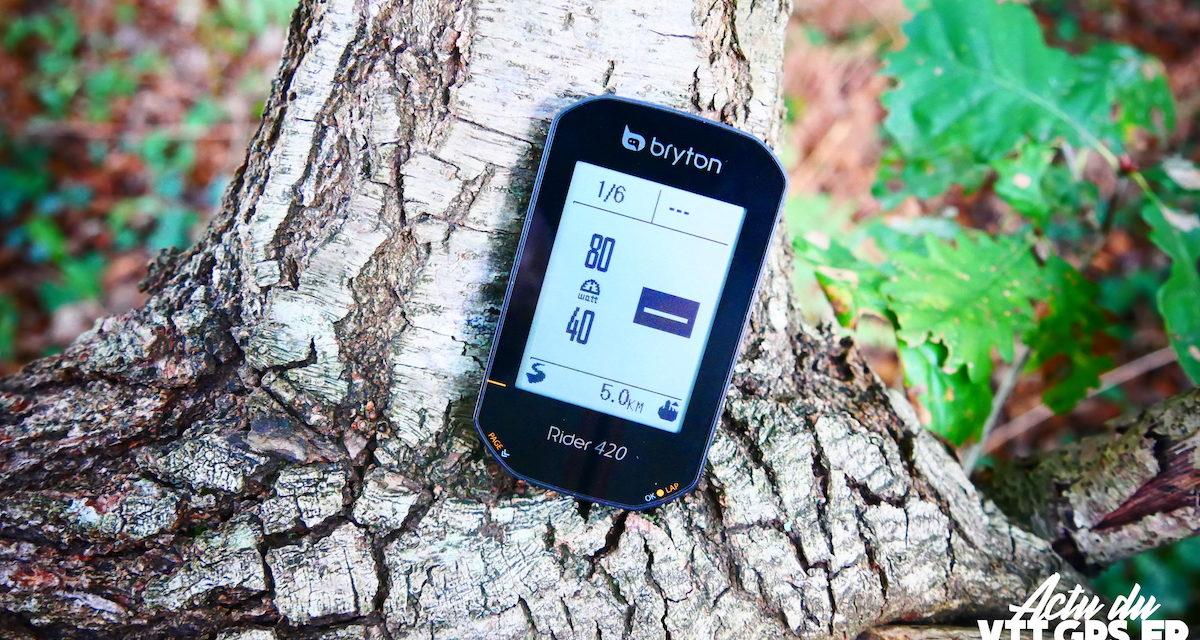 BRYTON RIDER 420 DEUX NOUVELLES FONCTIONS – ENTRAINEMENT, CLIMBPRO ET WAYPOINT